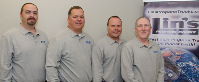 lins propane trucks sales staff